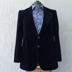 YSL Vintage  Black Velvet Sport Coat Jacket